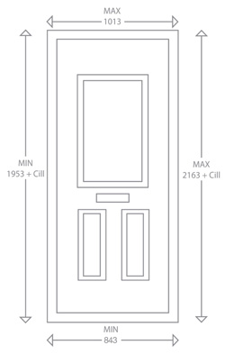 Solidor composite doors specification 48mm thickness for Door dimensions